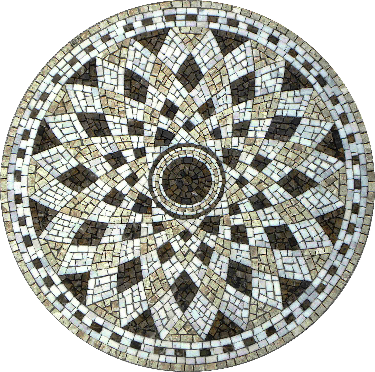 Mosaico mosaico romano semente de girassol for Mosaico para piso