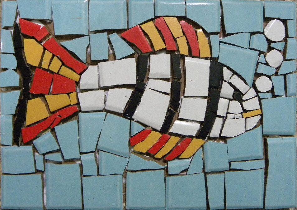 Curso de mosaico com azulejos cer mica e porcelana 2 for Mosaico ceramica